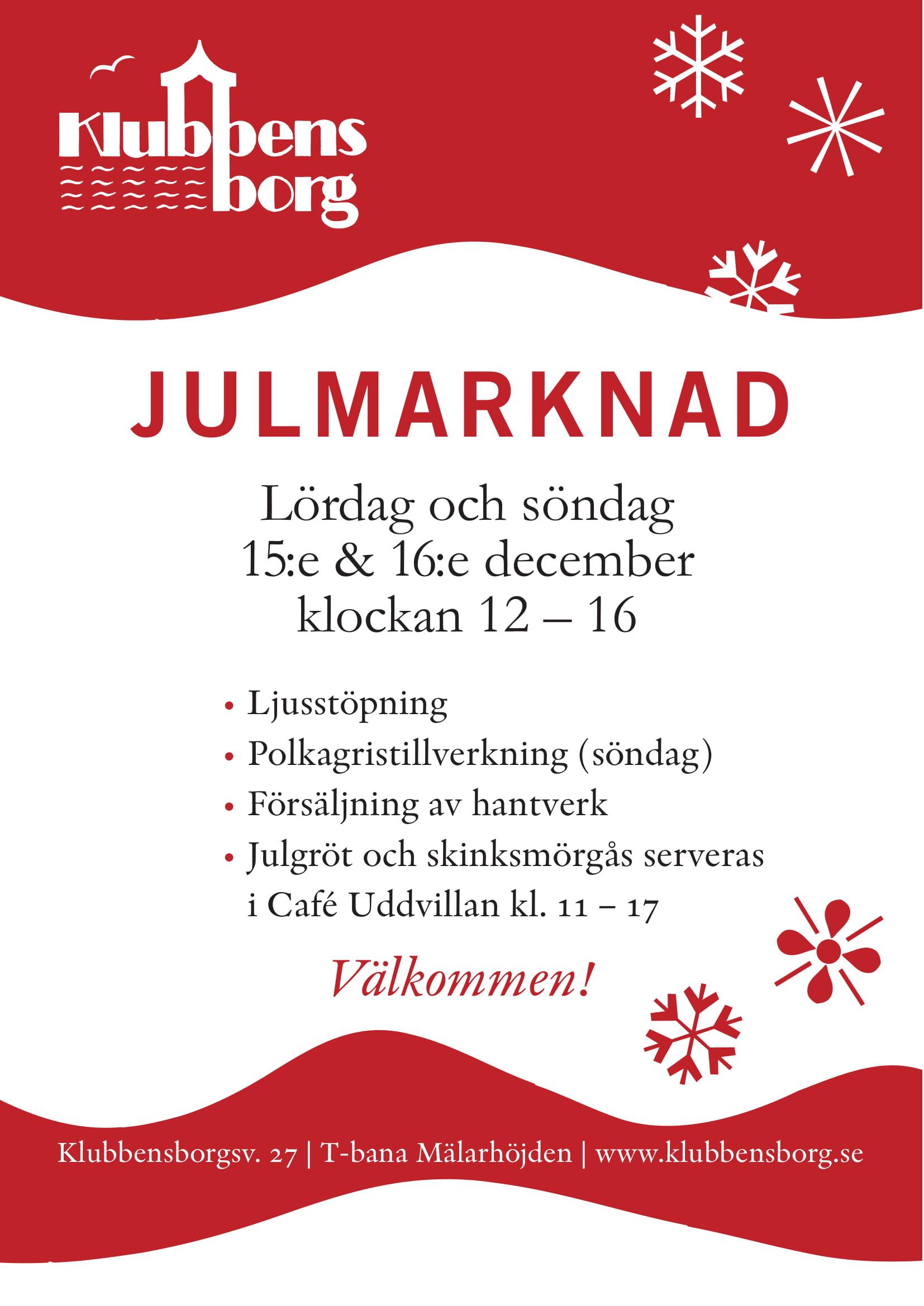 Julmarknad 2018 Poster