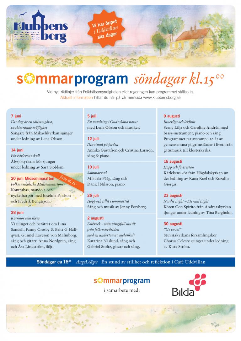 Sommarprogram 2020