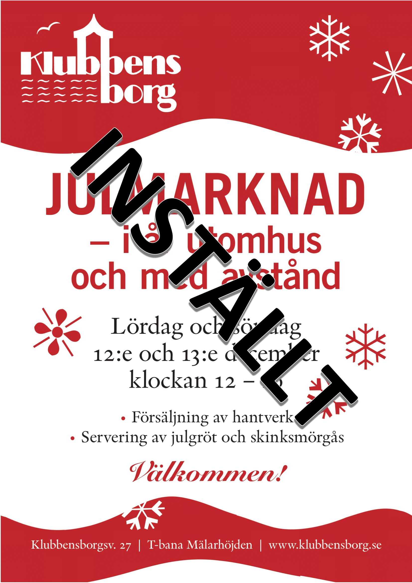 Julmarknad Inställd